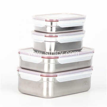New Design 0.8L/1.5L Stainless Steel Food Storage Containers